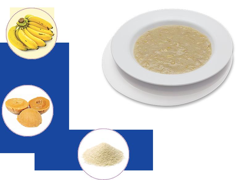 Banana and Apple Porridge