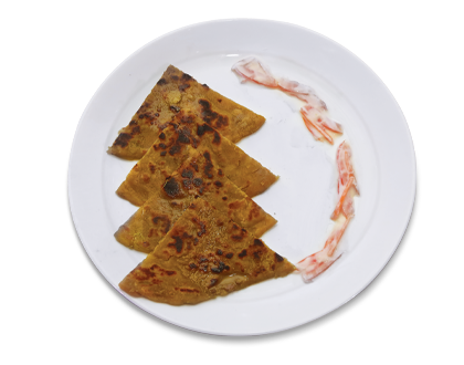 Sweet Potato and Paneer Paratha