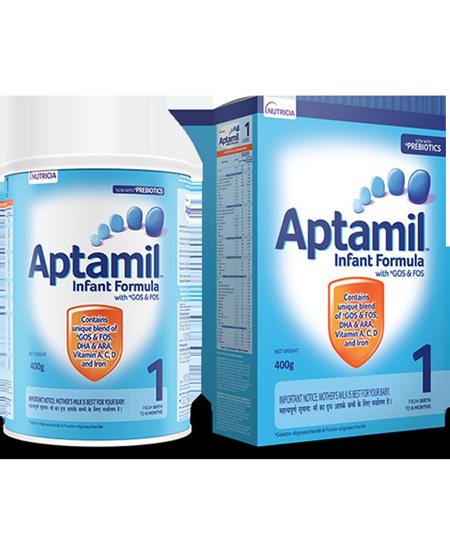 Aptamil Infant Formula with Prebiotic GOS & FOS Stage 1 (0-6 mos)